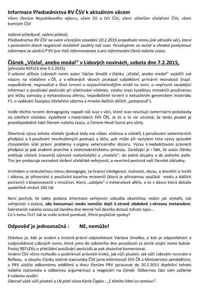 "Tak vida. Medaři z ČSV ""léčí"" antibiotikama"